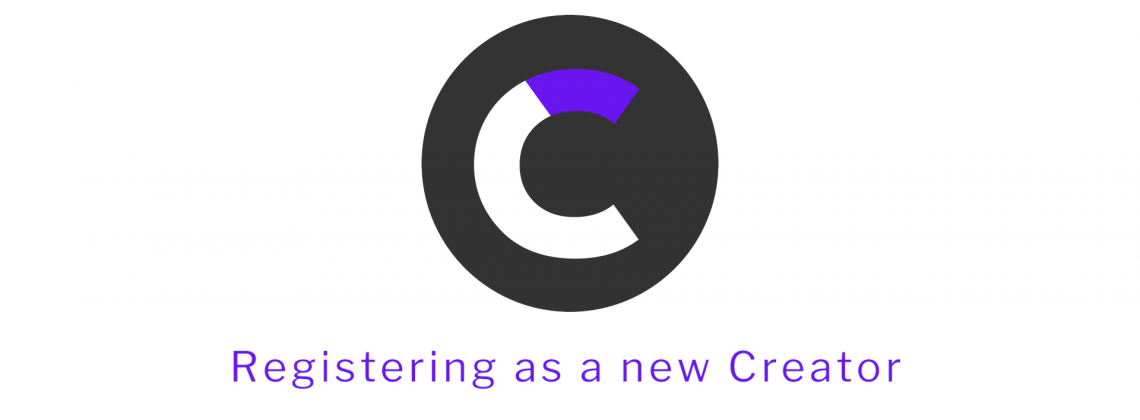 Registering as a new Creator
